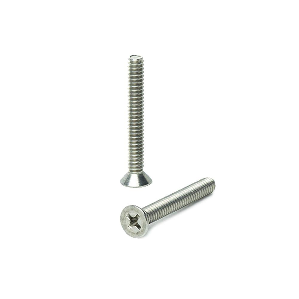 Full Thread Bright Finish Machine Thread Quantity 50 Pieces by Fastenere 10-24 x 2 Pan Head Machine Screws Stainless Steel 18-8 Phillips Drive