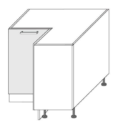 küchenschrank unterschrank eckschrank 2-türig 90: amazon.de: küche ... - Maße Eckschrank Küche
