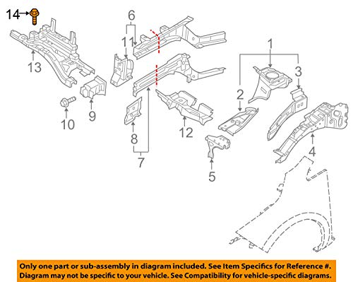 Nissan 081B7-2252A Cross-Member Bolt
