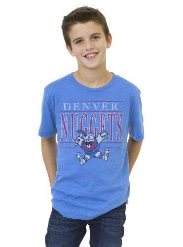 (NBA Denver Nuggets Youth Vintage Heather Short Sleeve Crew T-Shirt, Blueberry, Medium)