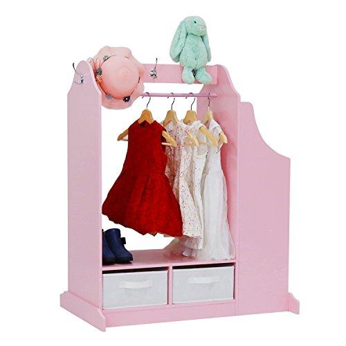 Girl Armoire Kid Dress up Storage Center Closet Cabinet Furniture Mirror Pink