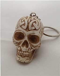 0c809716f564 Amazon.com  Skulls and Skeletons - Skull Key Chain - Cold Cast Resin ...