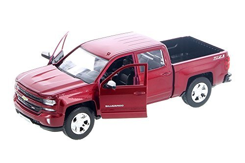 2017 1/27 Scale Chevy Silverad 1500 LT Z71 Crew Cab Truck diecast Model by Showcasts Collectibles Motormax (Chevy Silverado Model Truck)