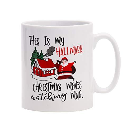 Coffee Mug This Is My Hallmark Christmas Movie Watching Mug Tea Cup Ceramic Coffee Mug for Christmas Gift Brithday Gift or Daily Use (Hallmark Cup)