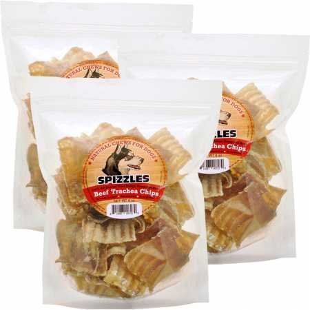 Spizzles 3PACK Beef Trachea Chips (24 oz) by Spizzles