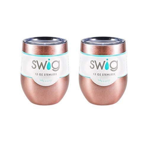Occasionally Made SWIG 12oz Wine Tumbler TWO Pack (Rose Gold)