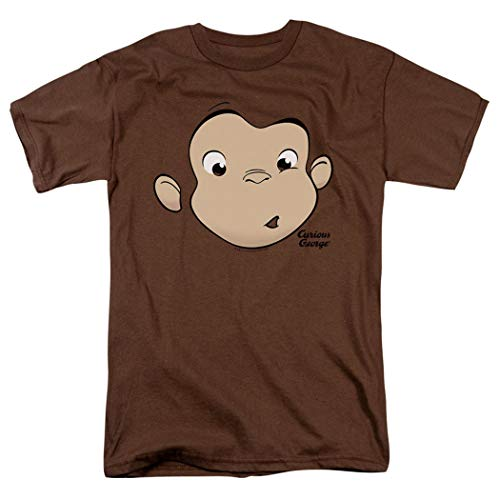 Popfunk Curious George Face Adult T Shirt (Medium) Brown