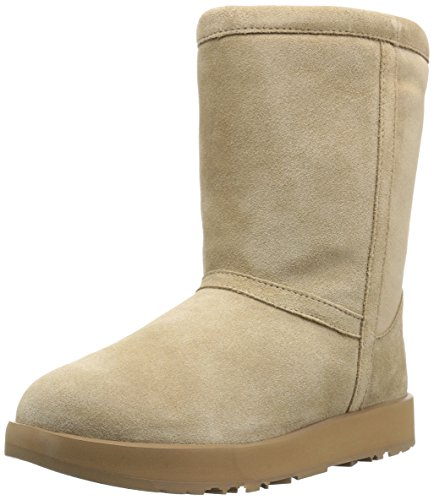 UGG Women's Classic Short Waterproof Snow Boot, Sand, 6.5 M US