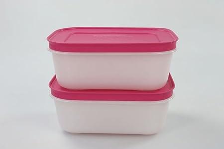 Tupperware Congelador 450 ml Blanco y Rosa (2) de cristal de hielo ...