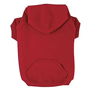 "Zack & Zoey Basic Hoodie for Dogs, 8"" X-Small, Tomato Red"