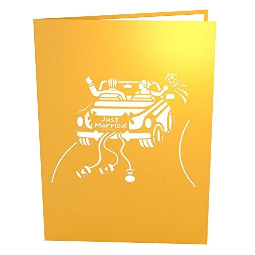 Lovepop 3D Pop Up Greeting Card - Wedding Car Photo #2