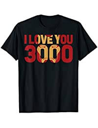 7e7facee7 Avengers Endgame Iron Man I Love You 3000 Text Fill T-Shirt