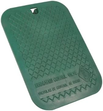 Engraved 12 x 17 Rectangular Green Lid Only for Dura 120-121 Valve Box /& Replaces Carson 1419 Lid Irrigation Control Valve