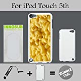 mac and cheese ipod 5 case - Mac n cheese Custom iPod 5/5th Generation Cases-White-Plastic,Bundle 2in1 Comes with Custom Case/Universal Stylus Pen by innosub
