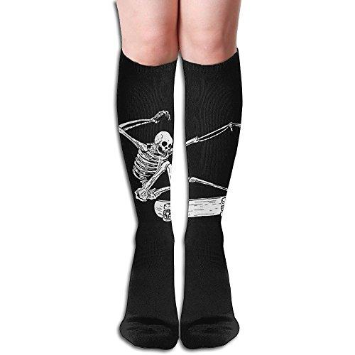 修羅場軽く石灰岩スケートボード ストッキング 3D デザイン 女性男性 秋と冬 フリーサイズ 美脚 かわいいデザイン 靴下 足元パイル ハイソックス メンズ レディース ブラック サイハイソックス