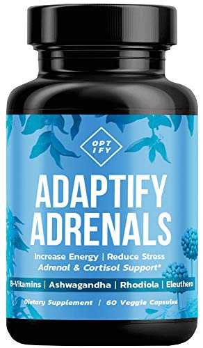 Adrenal Support & Cortisol Manager - Natural Adrenal Fatigue & Health Supplement with Organic Ashwagandha, Complete B Vitamin Complex, Rhodiola Rosea, Siberian Ginseng - B5 B6 B12 Supplements