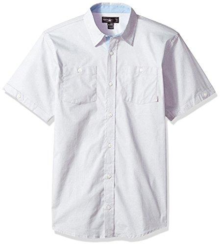 Beverly Hills Polo Club Boys Short Sleeve Shirt, Grey 18/20