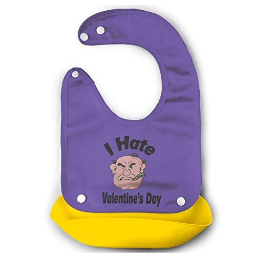 Kalongna I Hate Valentines Day Bib Mouth Towel For Toddlers Yellow 48