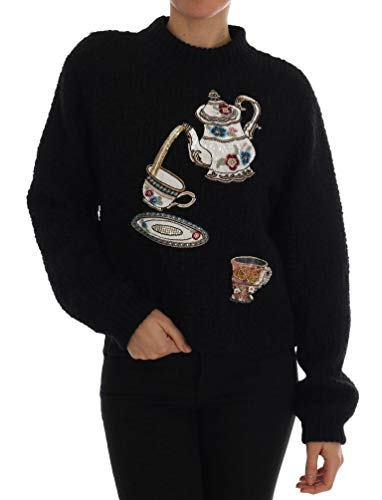 (Dolce & Gabbana Black Wool Cashmere)