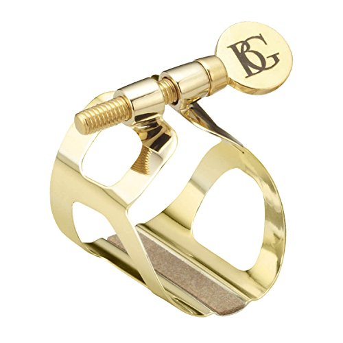 BG L81 Eb Traditional Clarinet Ligature with Cap - Gold Plated
