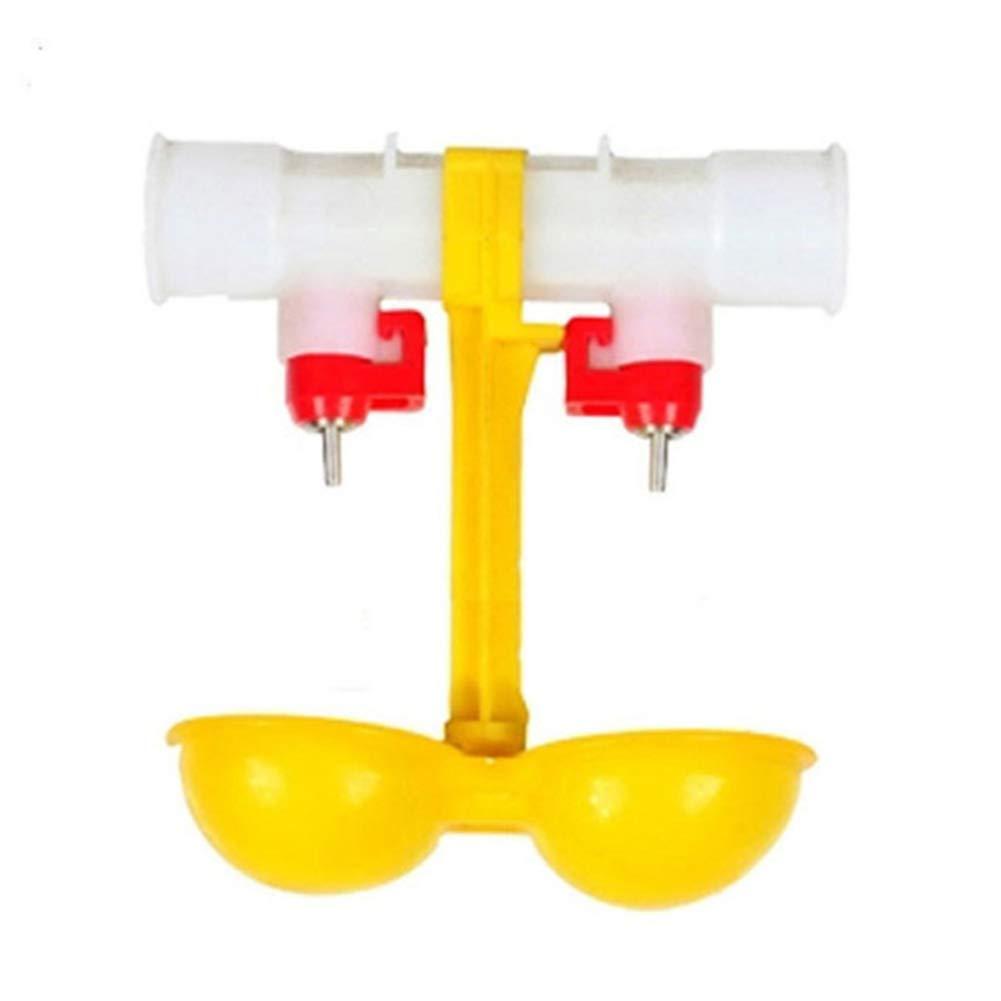 SADA72 Pollo Double-Head Automatico Fontana d' Acqua Potabile Hanging Bottiglia capezzolo Chicks Bere Ciotola 360 Gradi Ball Waterer per i Proprietari di Pollo, polli, ECC.