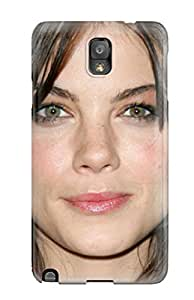Hot New Michelle Monaghan 6 Face Head Smile Eyes Lips Black Hair Mission Impossible People Women Case Cover For Galaxy Note 3 With Perfect Design