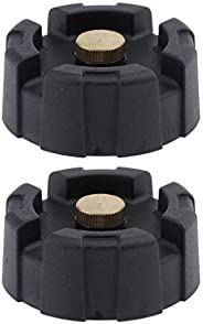 gazechimp 2 Pack of ABS Portable Outboard Fuel Gas Tank Cap Fit for Yamaha 12L 24L Boat Engine - Black