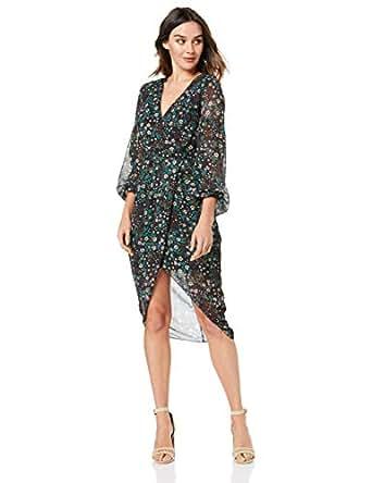 Cooper St Women's Nightbird Long Sleeve Drape Dress, Print Dark, 10