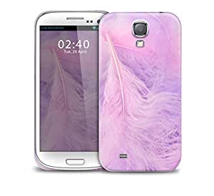 purple feathers on trend Samsung Galaxy S4 GS4 protective phone case