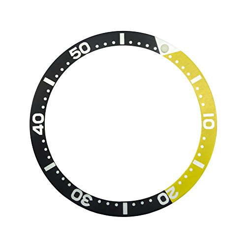 (Gold Yellow Aluminium Insert for Bezel from Scuba Diver SKX Watches Seiko Old Model 6309/7002/7S26(SKX) Divers)