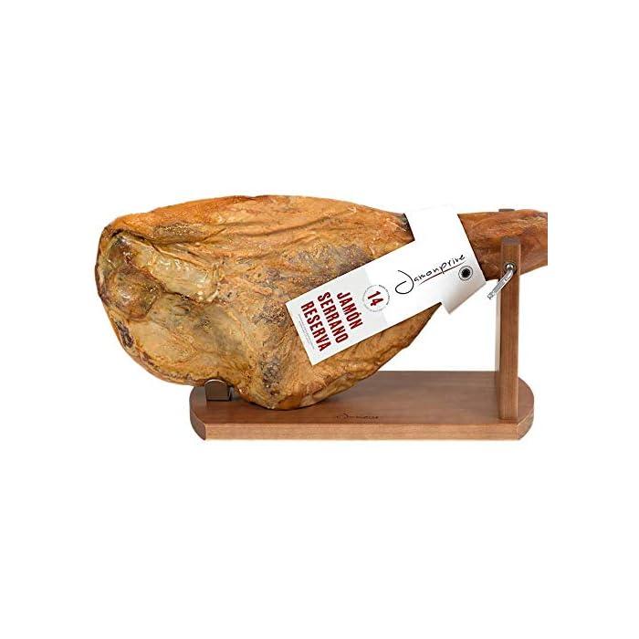 41lVsTbBrRL Tipo de accesorio: Soportes jamoneros El jamonero Banqueta de Jamonprive está fabricado en madera de pino. La tabla mide 40 x 16 x 1, 8 cm, y el brazo está fabricado con madera FSC.