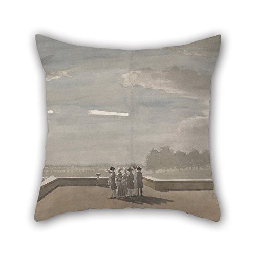 Bestseason The Oil Painting Paul Sandby - The Meteor Of August 18, 1783, As Seen From The East Angle Of The North Terrace, Windsor Castle Pillow Cases Of ,16 X 16 Inches / 40 By 40 Cm (North Terrace)
