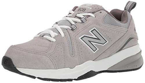Casual Professional Shoes - New Balance Men's 608v5 Casual Comfort Running Shoe, Grey Suede, 14 W US