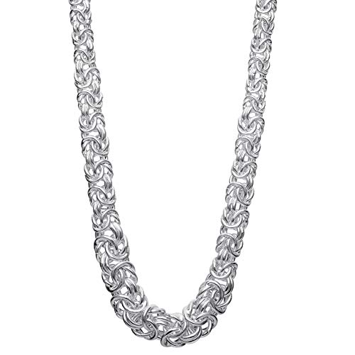 Ellen Tracy Sterling silver Byzantine Necklace, Made in Italy