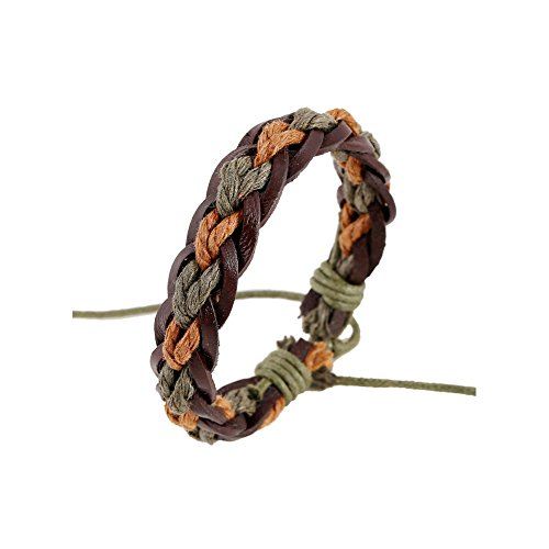 Price comparison product image Winter's Secret Personality Colorful Twist The Wax Rope Hand Woven Bracelet
