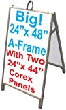 48'' Wood A-Frame Sidewalk Signs - Coroplast Panels!