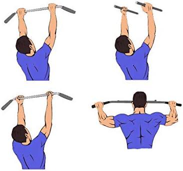 Mach 7 Barra de dominadas montada en la pared perfecta para el gimnasio en el hogar y al aire libre, entrenamiento de cuerpo completo