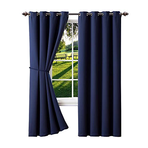 Cheap  Warm Home Designs 1 Panel of Navy Blue Blackout Curtains with Grommets...