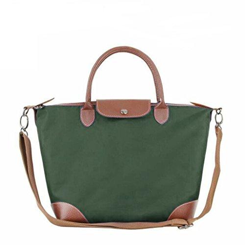 BEKILOLE Women's Stylish Waterproof Tote Bag Nylon Travel Beach Crossbody Bags for Women- Army Green
