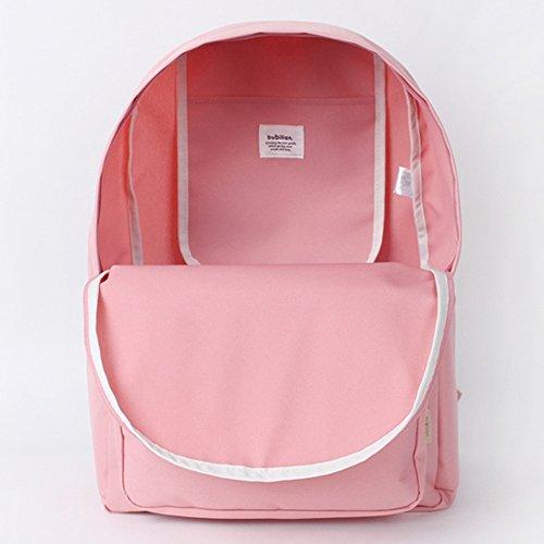 Bubilian BTBB Backpack / Korean Street Brand / School Bag / Travel Bag (Beige) Pink