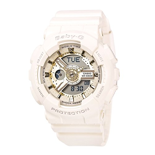New Casio Baby-G 3D Gold Accent Dial Ana-Digital Unisex Watch BA110GA-7A2