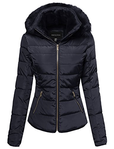 Quilted Detachable Hood Jacket - 1