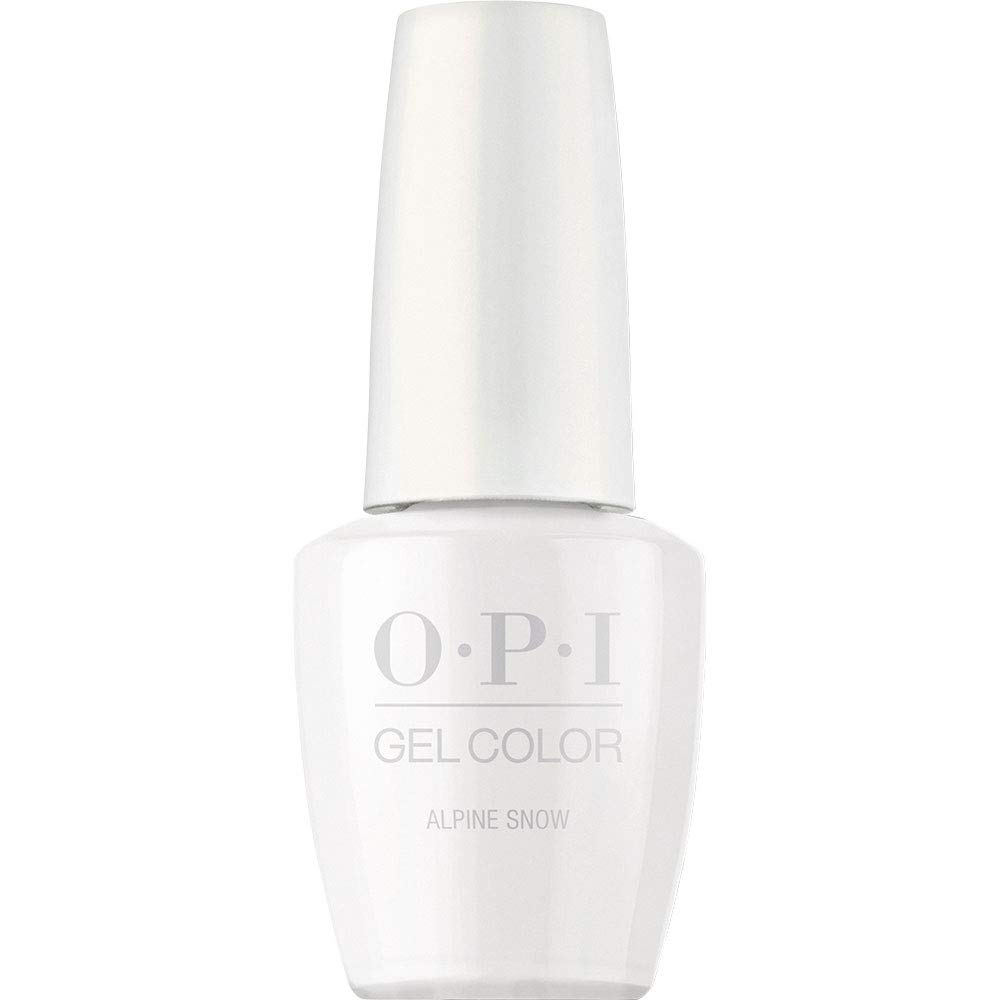 OPI GelColor Nail Polish, White Gel Nail Polish for Long Wear, 0.5 fl oz