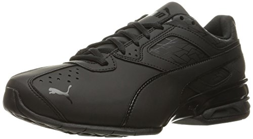 PUMA Men's Tazon 6 Fracture FM Sneaker, Black, 9 M US
