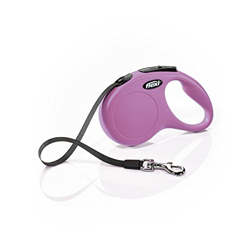(Flexi New Classic Retractable Dog Leash (Tape), 16 ft, Small, Pink)