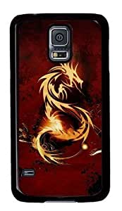 Rugged Samsung Galaxy S5 Case and Cover - Red Dragon Custom Design PC Case Cover for Samsung Galaxy S5 - Black hjbrhga1544