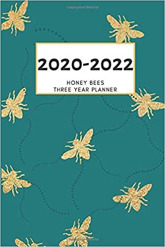 3 Year Planner 2020-2022 Honey Bees Three Years Monthly ...