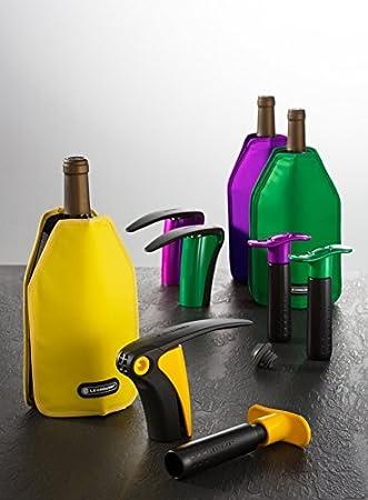 LE CREUSET LM150 Set de Regalo con sacacorchos de Palanca Extracción del tapón en Botella de Vino, Poliamida, Amarillo