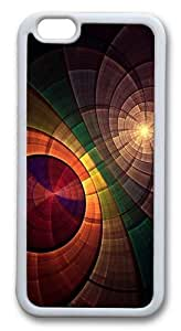 Abstract Circle Overlapping Custom For HTC One M7 Case Cover Hard shell White