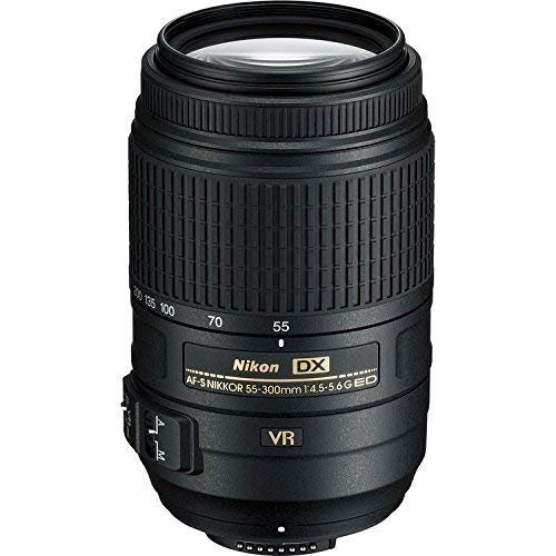 Nikon 2197-IV AF-S DX NIKKOR 55-300mm f/4.5-5.6G ED Vibration Reduction Zoom Lens with Auto Focus for DSLR Cameras International Version, 100 (Nikon Af S Dx Nikkor 55 300mm)